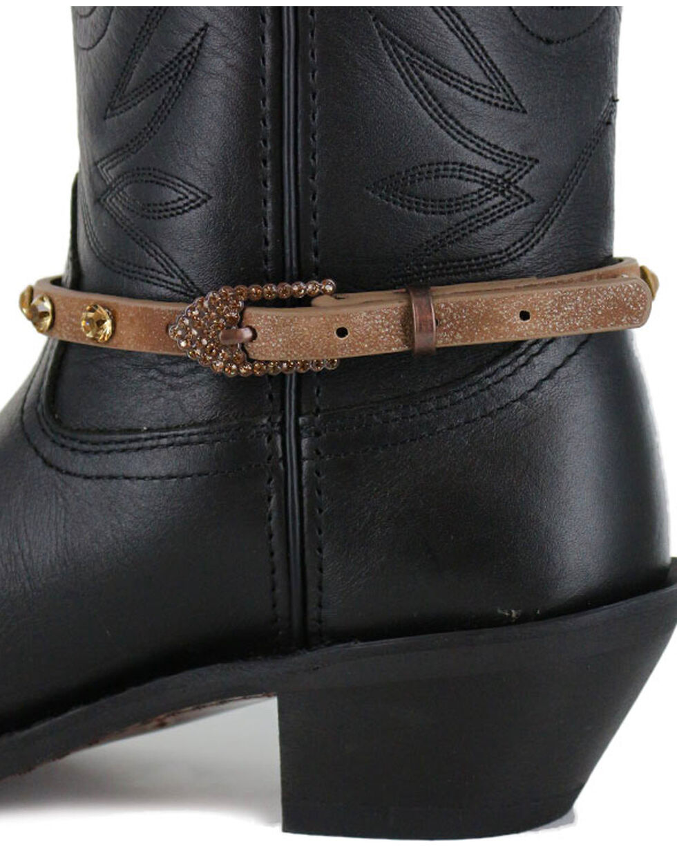 Shyanne® Women's Crystal Boot Bracelet , Brown, hi-res
