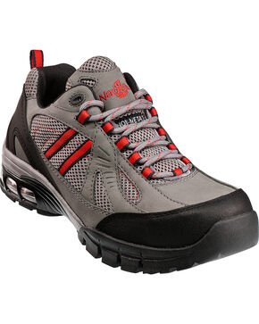 Nautilus Men's Composite Toe EH Athletic Work Shoes, Grey, hi-res
