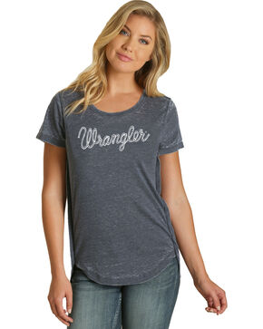 Wrangler Women's Navy Rope Logo Fashion Tee , Navy, hi-res