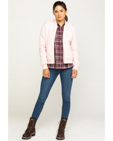 Dickies Women's Quilted Bomber Jacket, Light Pink, hi-res