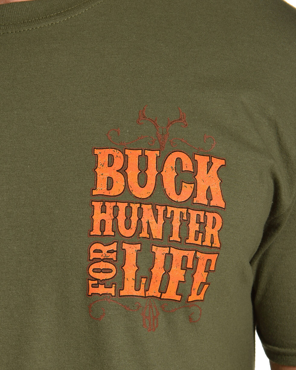 Cowboy Hardware Men's Buck Hunter Tee, Green, hi-res