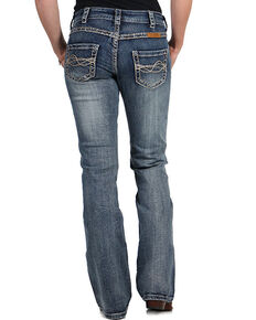 Cowgirl Tuff Women's Timeless Barbed Wire Denim Jeans, Blue, hi-res