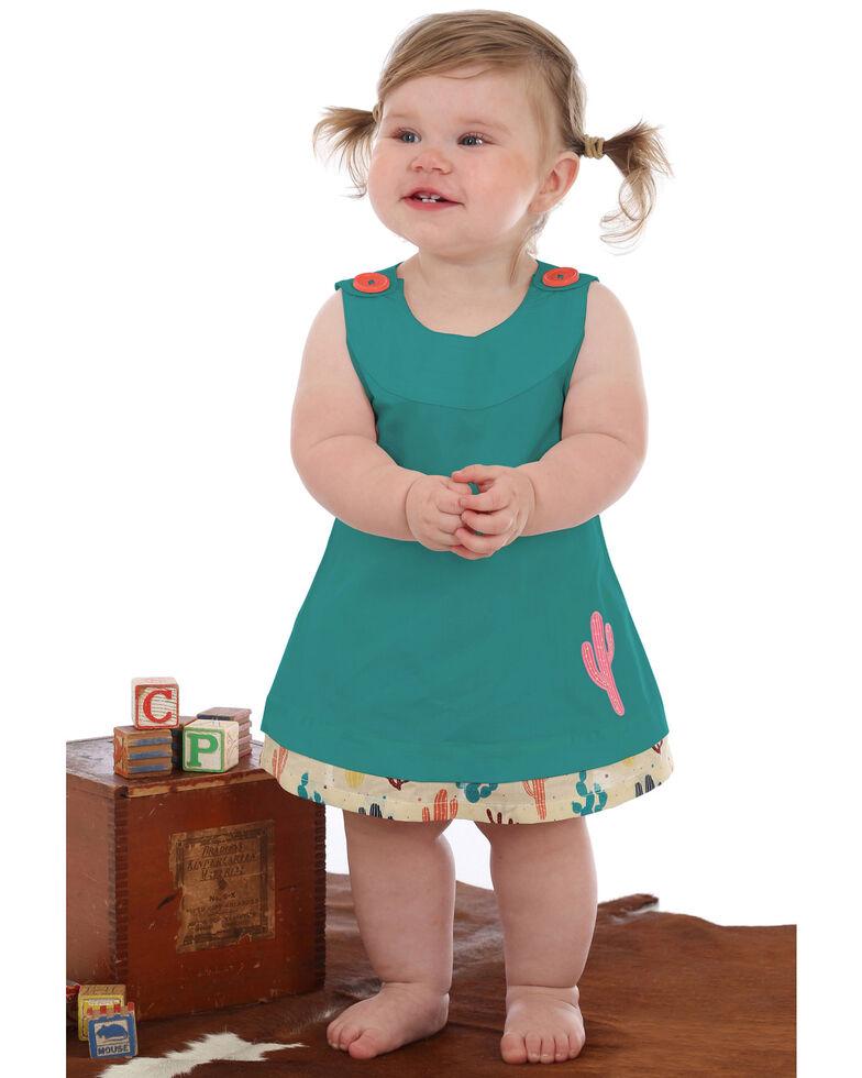 Wrangler Girls' Infant & Toddler Sleeveless Cactus Baby Romper , Green, hi-res