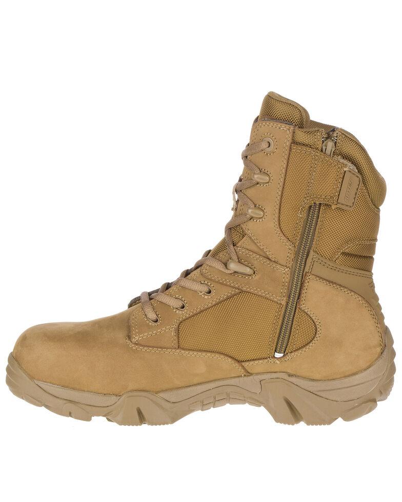 Bates Men's GX-8 Waterproof Work Boots - Composite Toe, Tan, hi-res