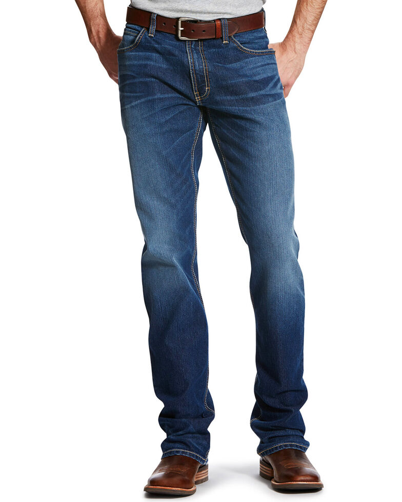 Ariat Men's Relentless Highway Low Relaxed Bootcut Jeans , Blue, hi-res