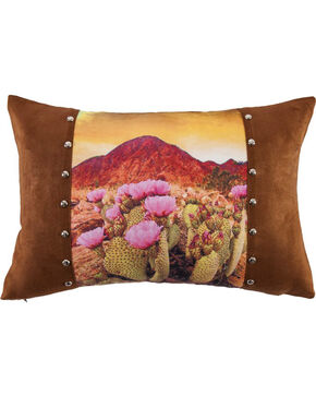 HiEnd Accents Brown Desert Scene Pillow , Brown, hi-res