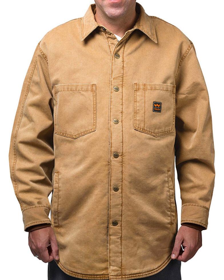 Walls Men's Vintage Fleece Lined Shirt Jacket, Pecan, hi-res