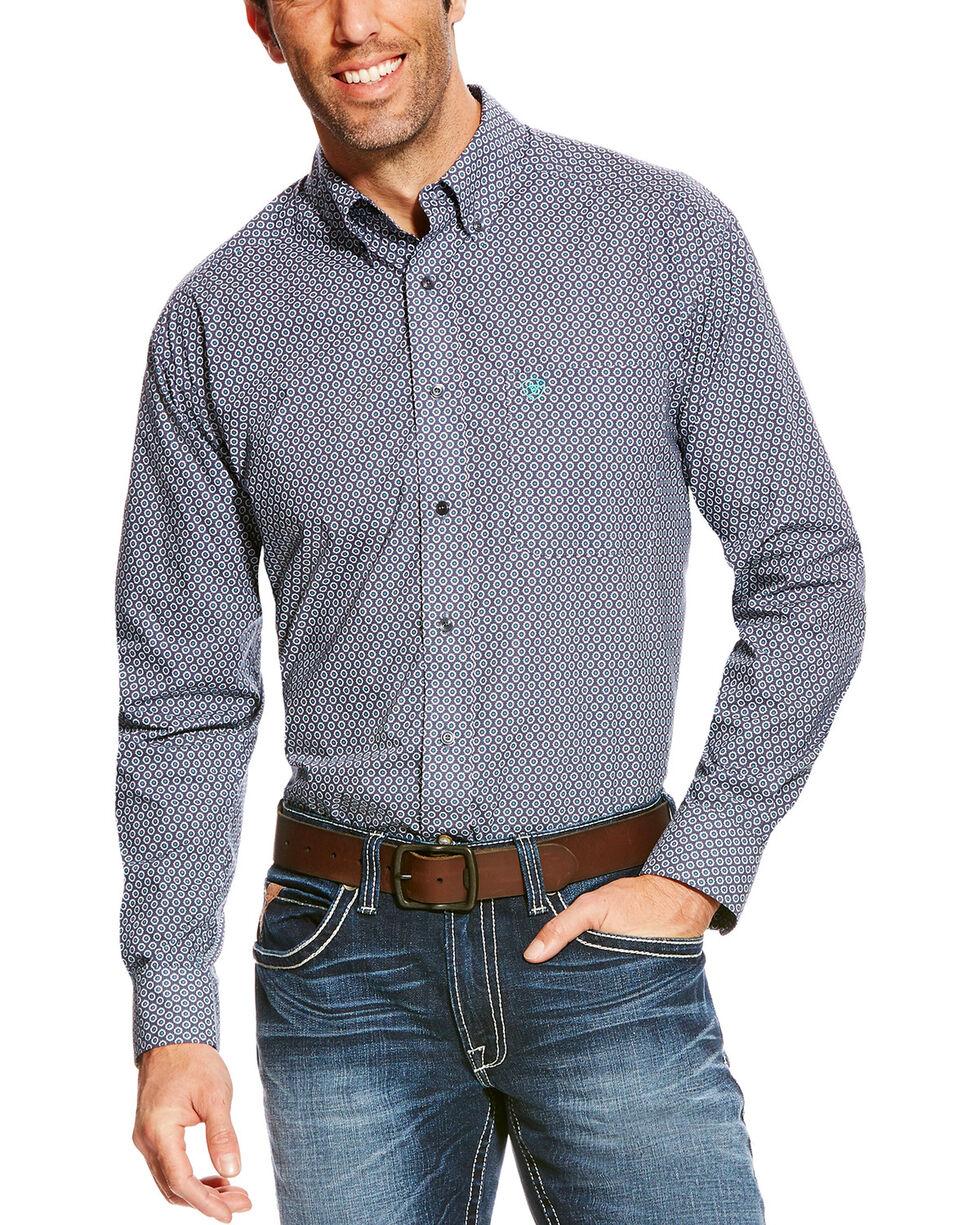 Ariat Men's Blue Argo Sun Print Long Sleeve Western Shirt - Tall , , hi-res