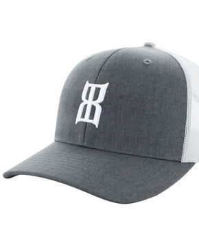 Bex Kids' Heather Steel Mesh Baseball Cap, Heather Grey, hi-res