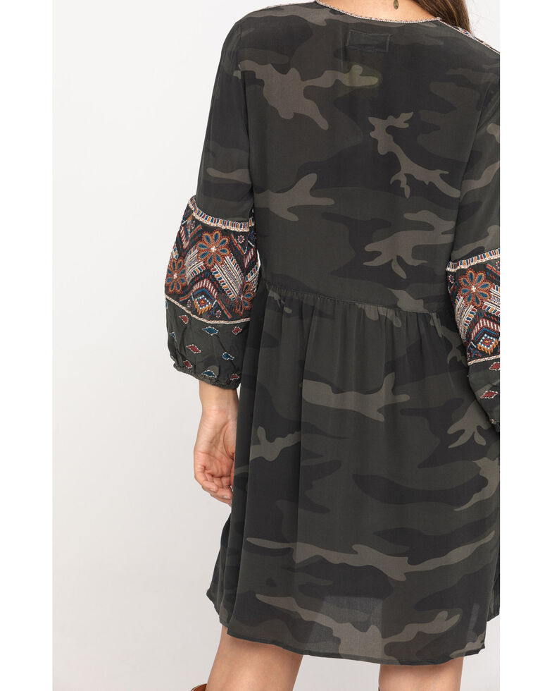Johnny Was Women's Forrest Camo Molly Jo Paris Dress, Camouflage, hi-res