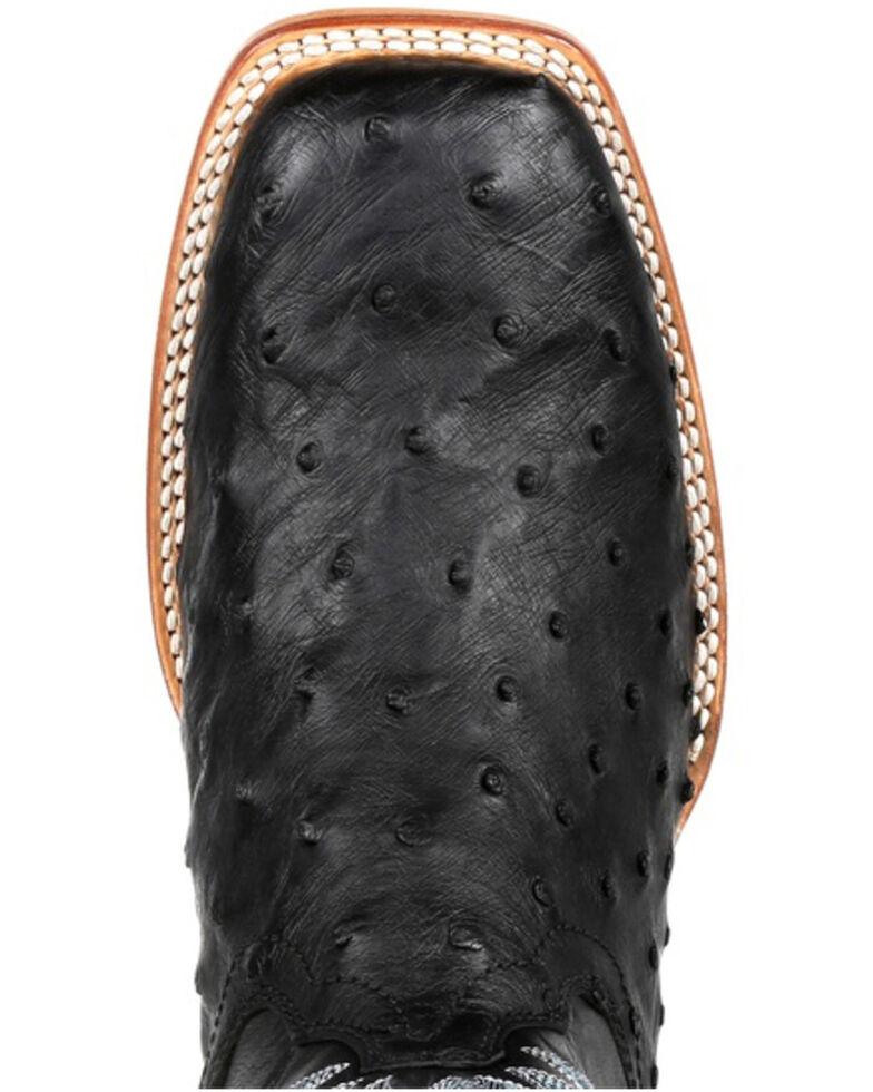 Durango Men's Full-Quill Ostrich Western Boots - Square Toe, Black, hi-res