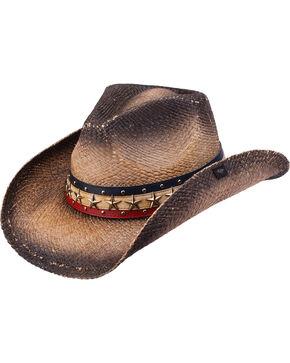 Peter Grimm Hogan Straw Cowboy Hat, Black, hi-res