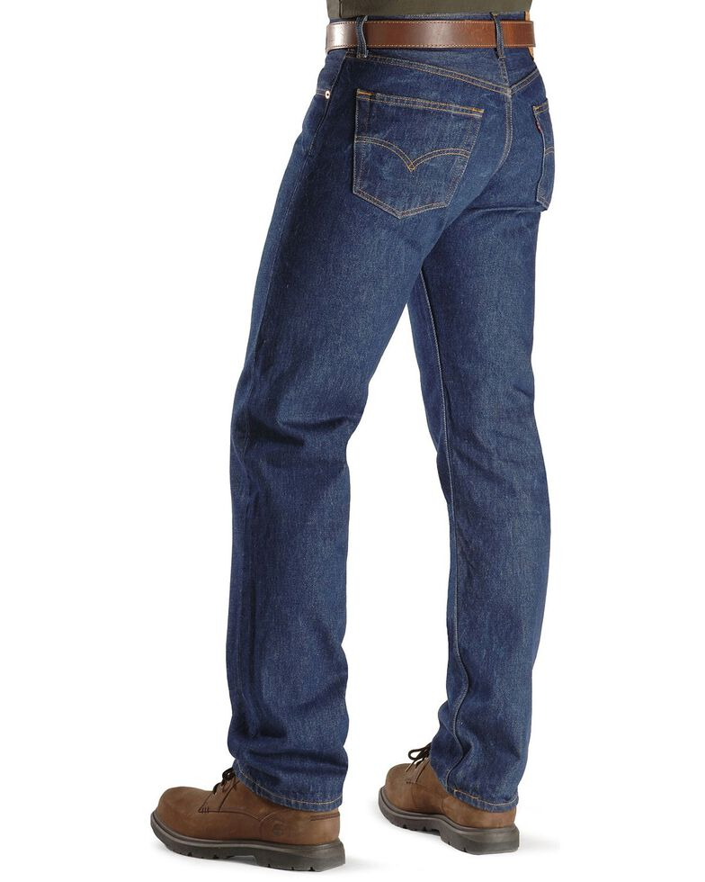 Levi's Men's 501 Original Shrink-to-Fit Regular Straight Leg Jeans - Big, Indigo, hi-res