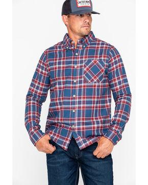 Browning Men's Burgundy Crawford Plaid Long Sleeve Flannel Shirt , Burgundy, hi-res