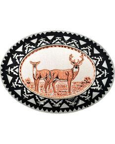 Western Express Men's Copper Deer Belt Buckle , Rust Copper, hi-res