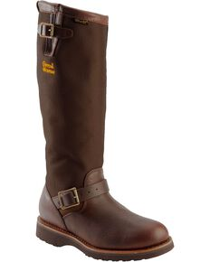 "Chippewa Men's 17"" Viper Pitstop Waterproof Snake Boots, Briar, hi-res"