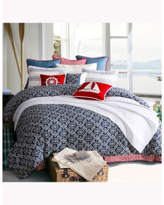 HiEnd Accents St. Clair Super King Bedding Set, Blue, hi-res