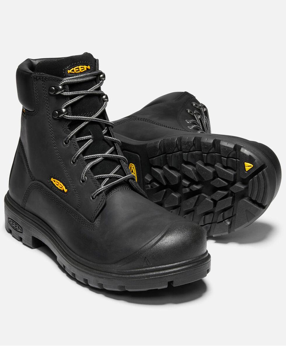 Keen Men's Baltimore Waterproof Work Boots - Steel Toe, Black, hi-res