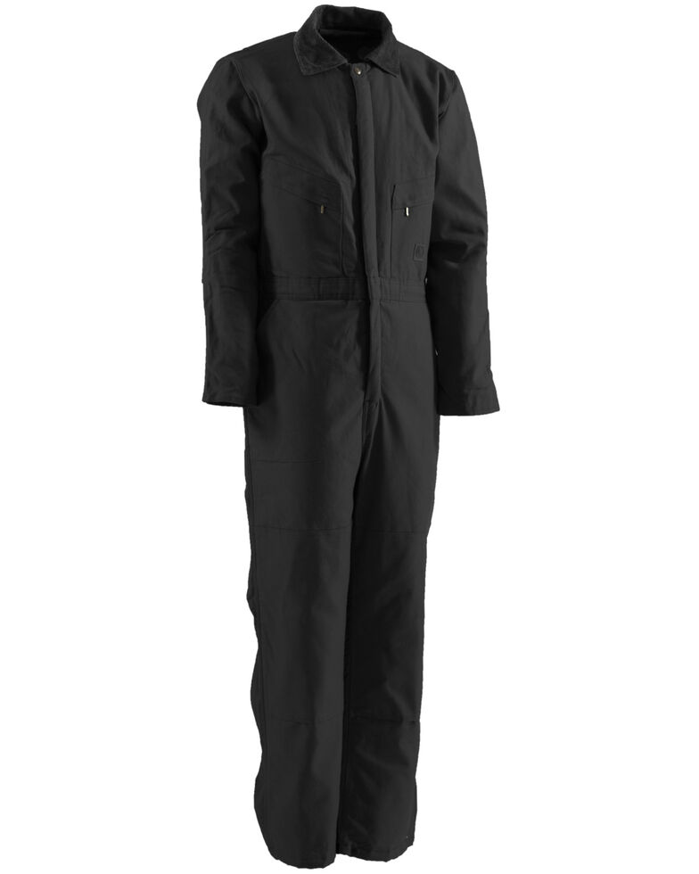 Berne Men's Duck Deluxe Insulated Coveralls, Black, hi-res