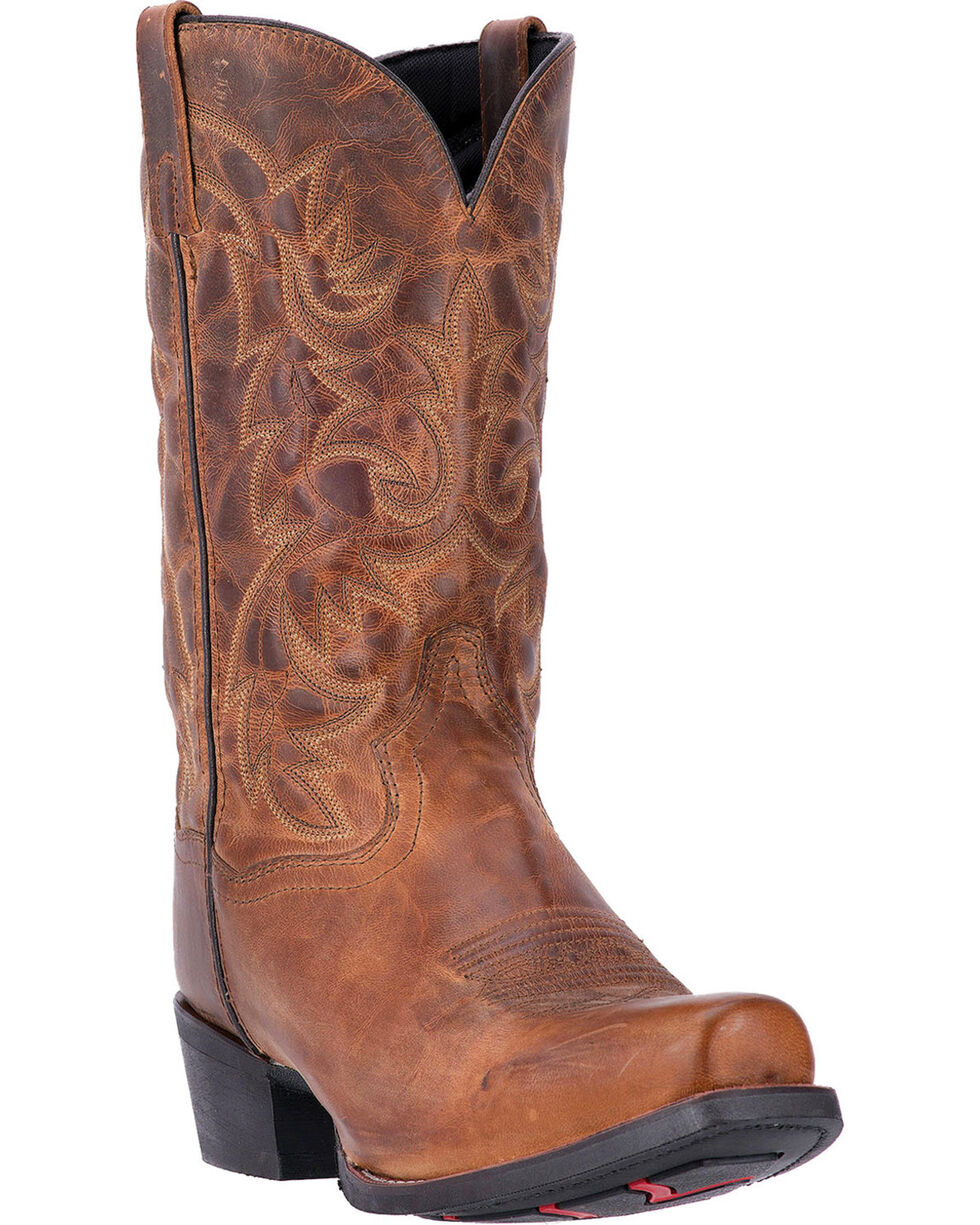 Laredo Men's Distressed Embroidery Western Boots, Distressed, hi-res