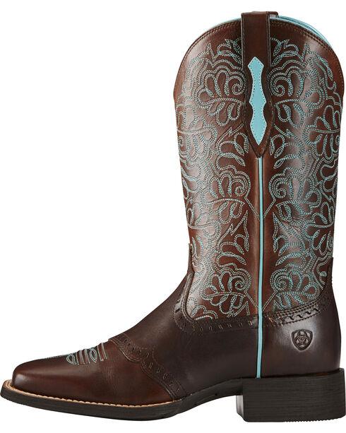 Ariat Women's Remuda Western Boots, Dark Brown, hi-res