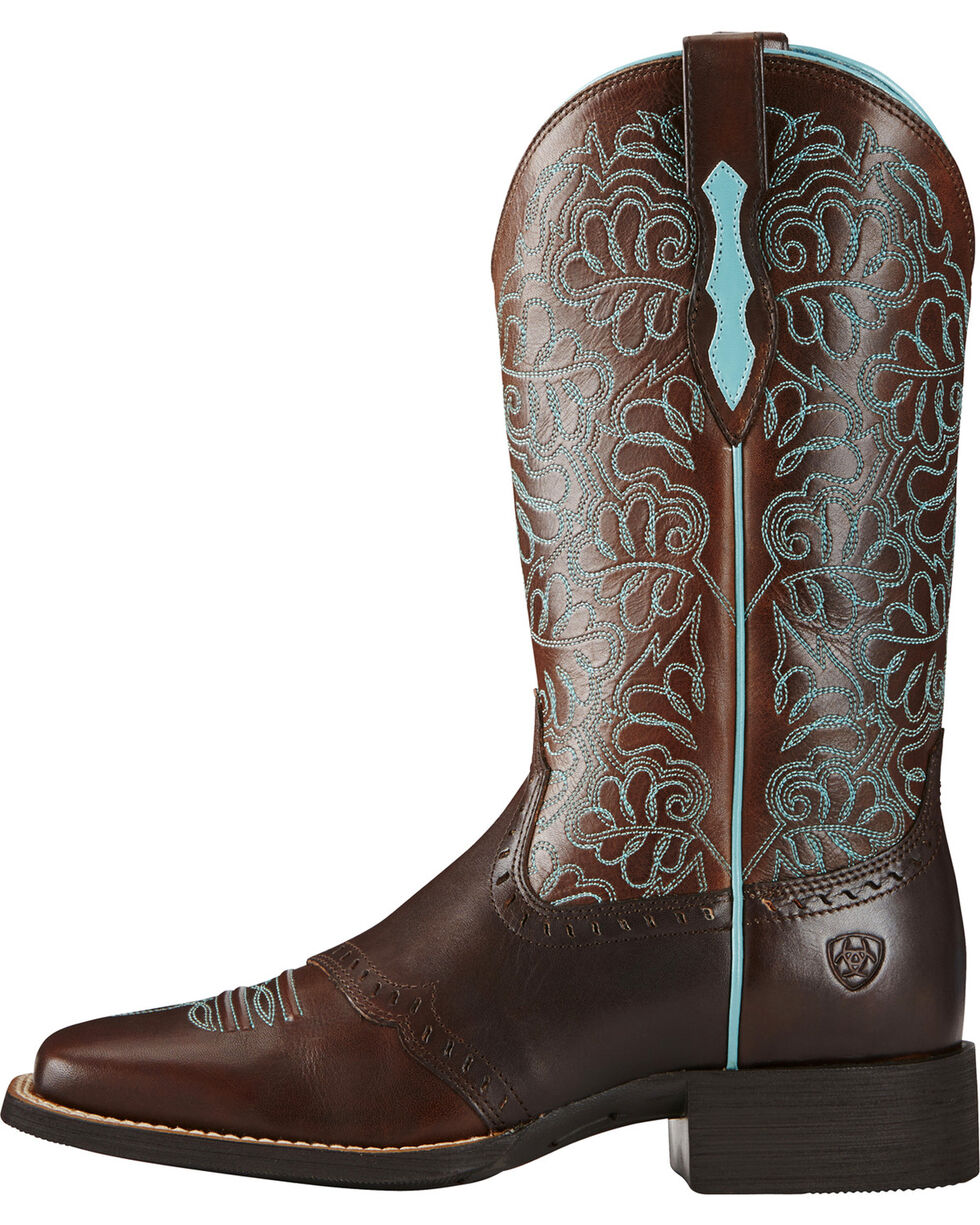 Ariat Women's Remuda Western Boots, Dark Brown, hi-res