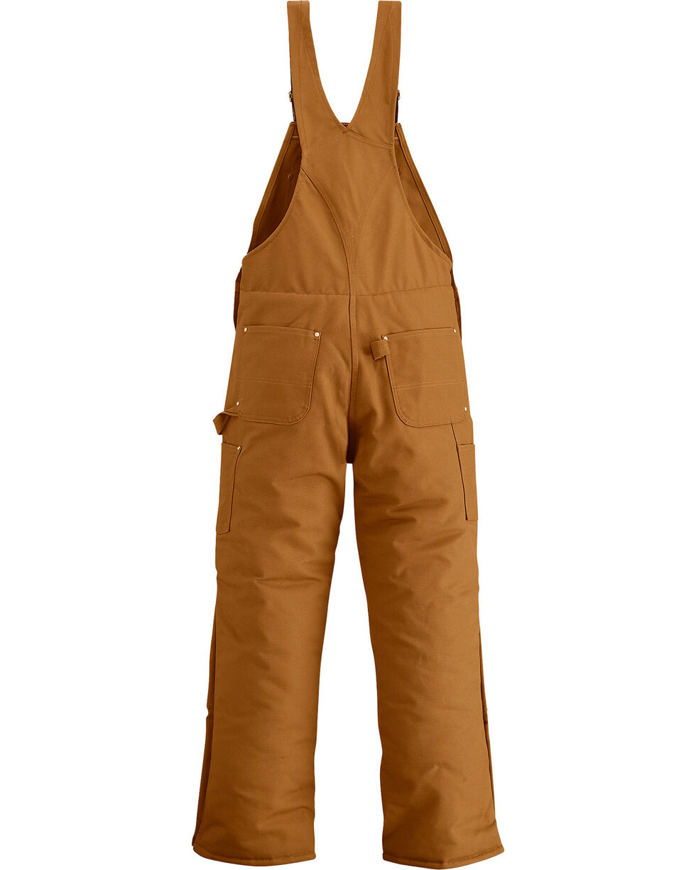 Carhartt Men's Artic Quilt Lined Bib Overalls, Brown, hi-res
