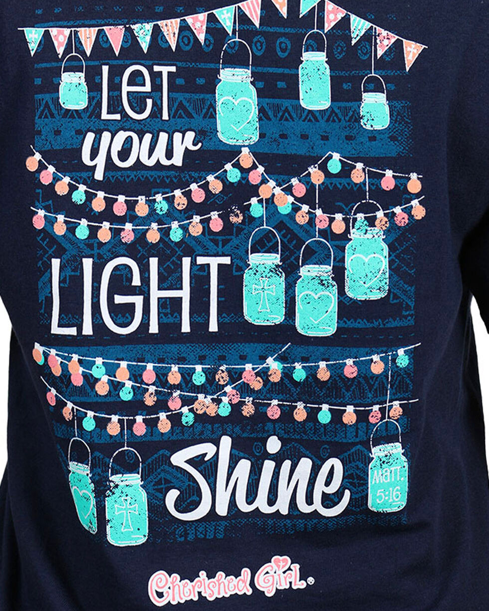 "Cherished Girl Women's ""Shine"" Short Sleeve T-Shirt, Navy, hi-res"