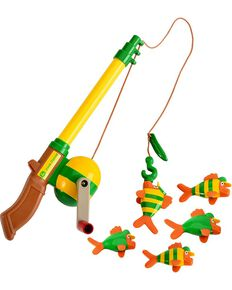 John Deere Electronic Sounds Fishing Rod Toy Set, Green, hi-res