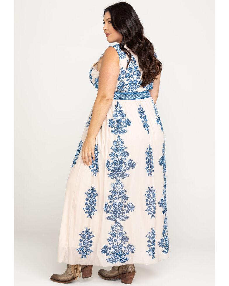Flying Tomato Women's Rose Maxi Dress - Plus, Blue, hi-res