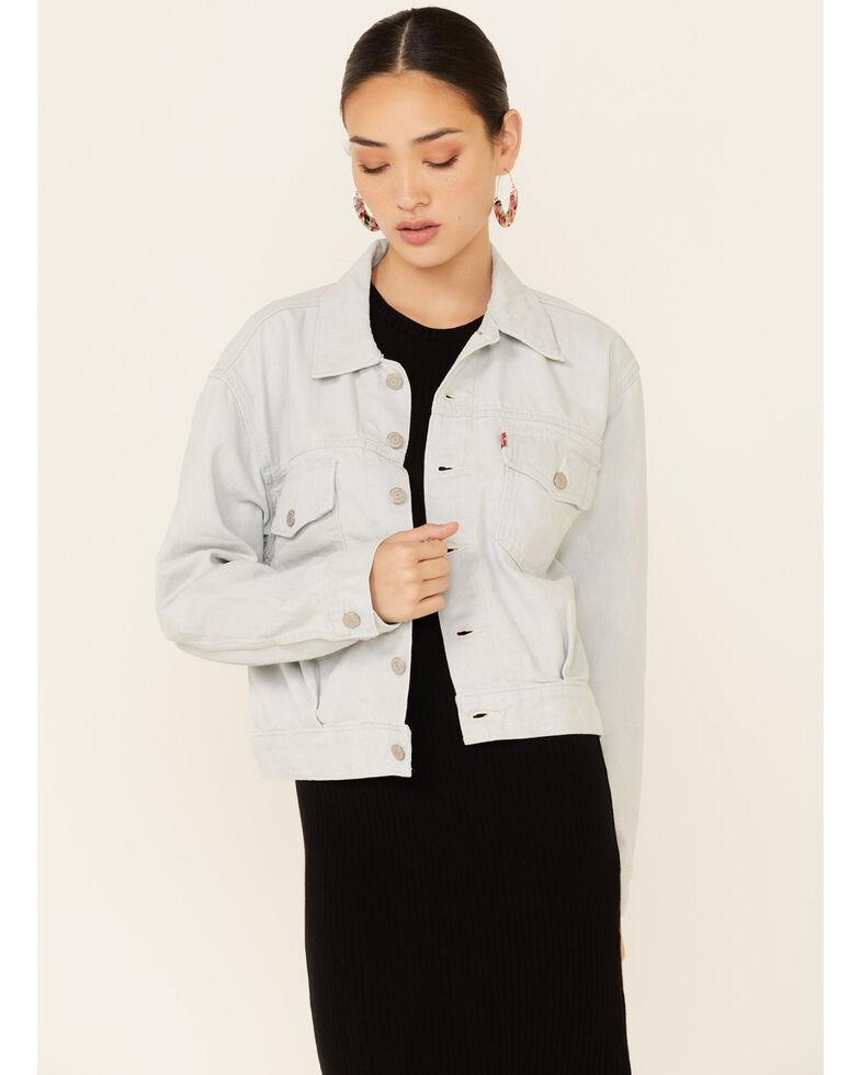 Levi's Women's Waste Not Light Wash Denim Button-Front Oversized Trucker Jacket , Light Blue, hi-res