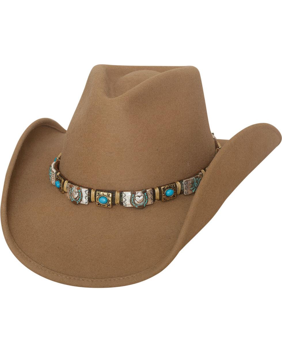 Bullhide Women's Kill The Lights Premium Wool Hat , Camel, hi-res
