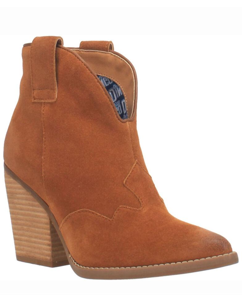 Dingo Women's Flannie Fashion Booties - Round Toe, Brown, hi-res