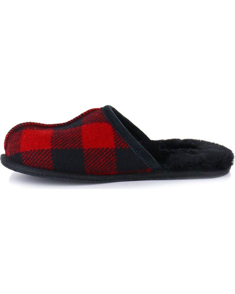 07213d553 Zoomed Image UGG® Men's Scuff Plaid Slippers, Red, hi-res