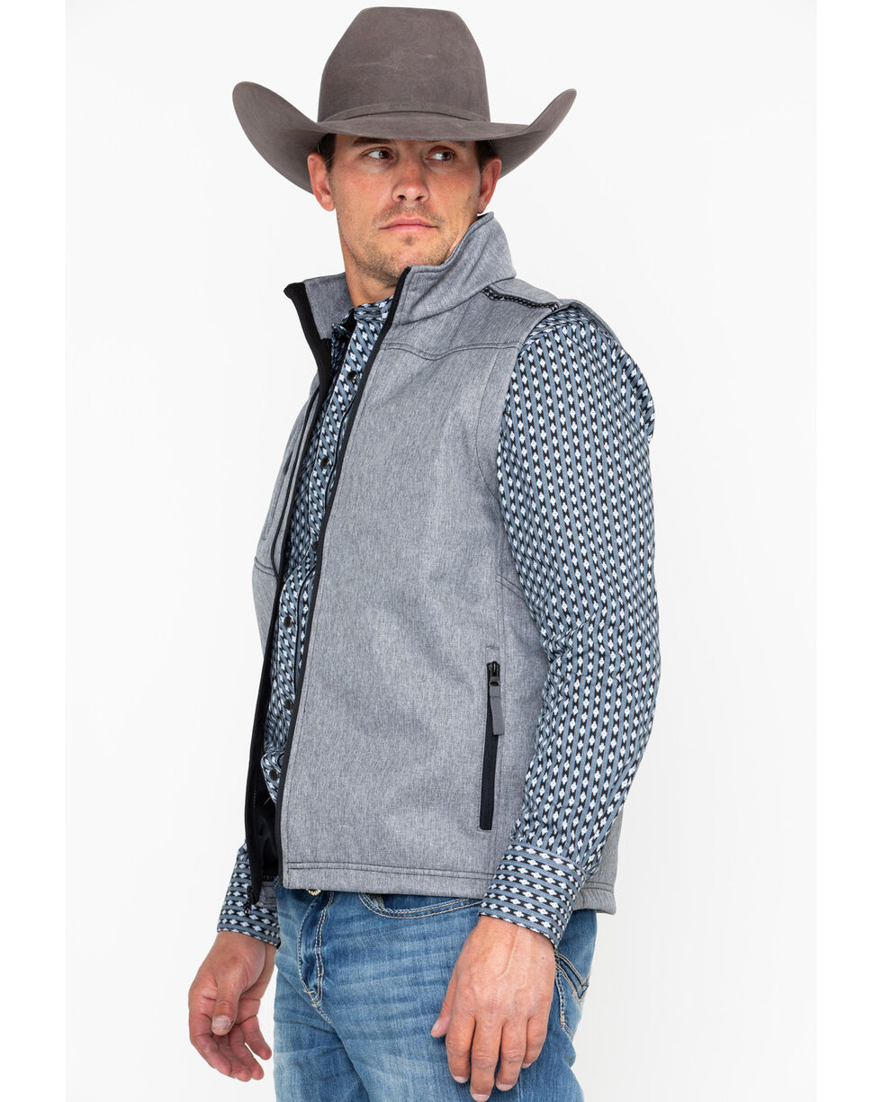 Cowboy Hardware Men's Diamond Shell Vest , Grey, hi-res