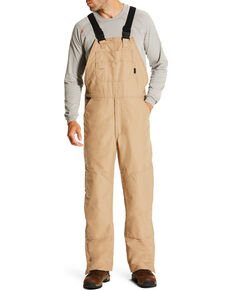 Ariat Men's Beige FR Insulated Bib Overalls - Big, Beige/khaki, hi-res