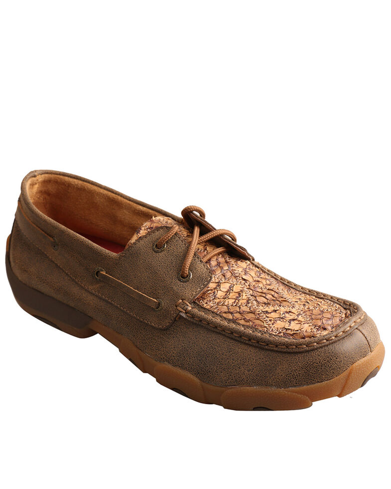 Twisted X Men's Fish Patch Casual Shoes - Moc Toe, Brown, hi-res