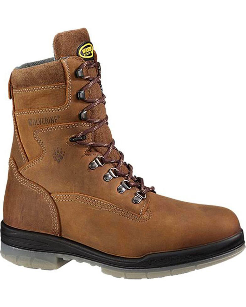 Wolverine Men's DuraShocks® Insulated Waterproof Work Boots, Brown, hi-res