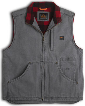 Walls Men's Pecos Vest, Grey, hi-res