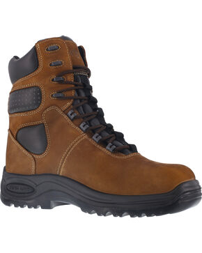 "Iron Age Men's 8"" Insulated Waterproof Work Boots - Composite Toe , Brown, hi-res"