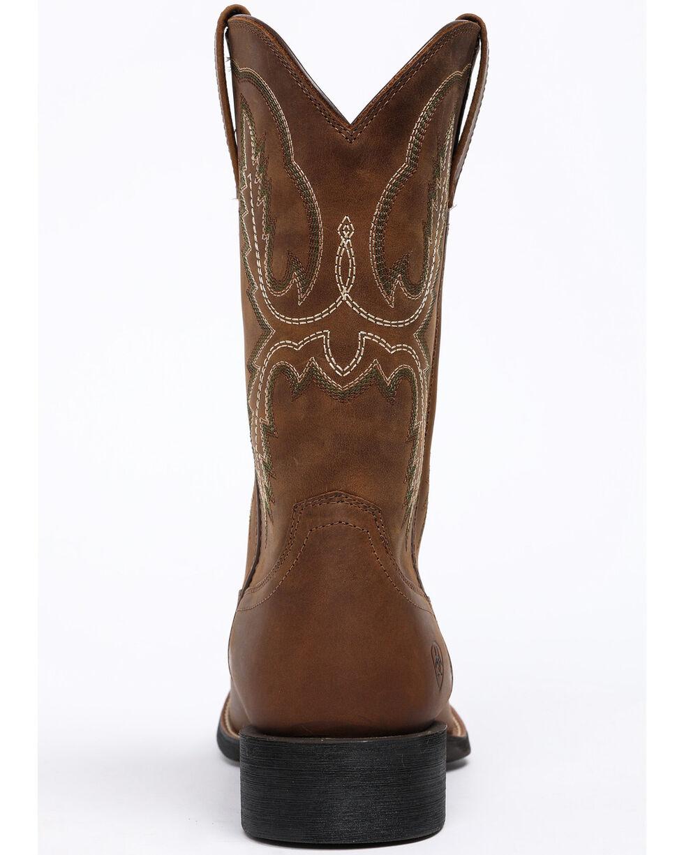 Ariat Men's Sport Stratton Western Boots - Round Toe, Tan, hi-res