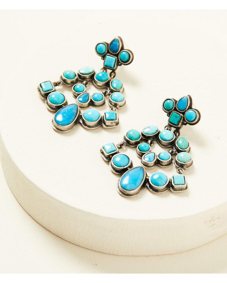 Double D Ranch Women's Sky City Earrings, Turquoise, hi-res