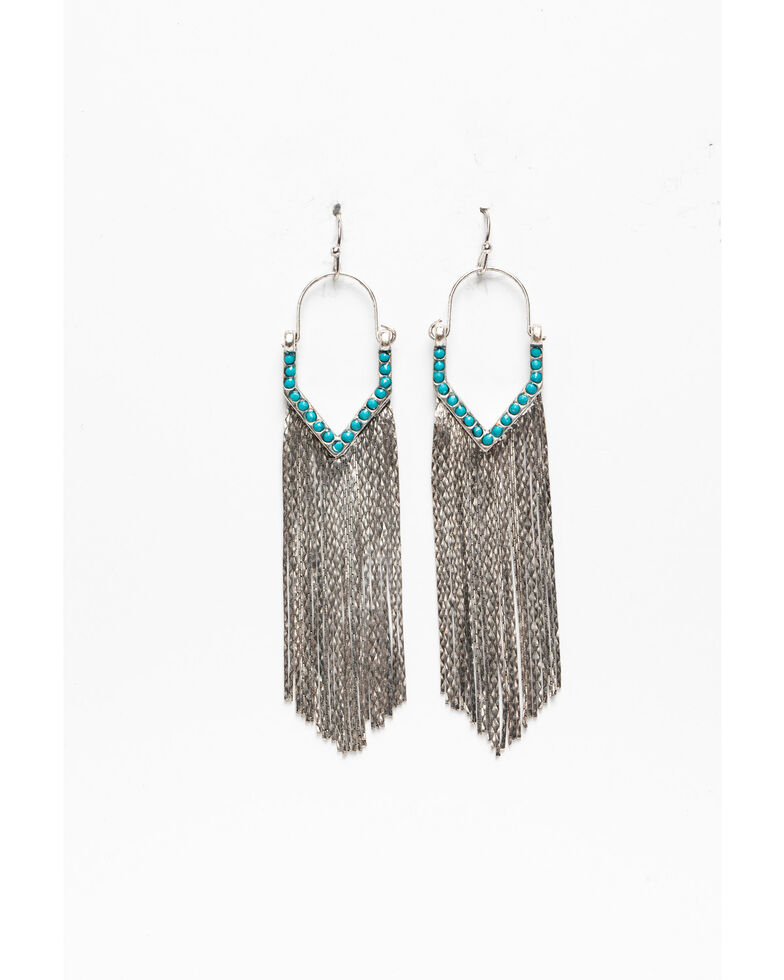 Idyllwind Women's Just Say Yes Drop Fringe Earrings, Silver, hi-res