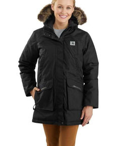 Carhartt Women's Yukon Extremes Insulated Parka, Black, hi-res