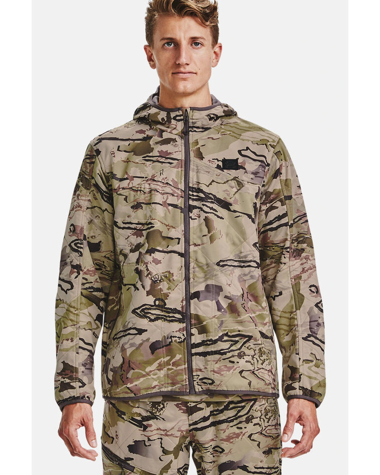 Under Armour Men's Barren Camo Brow Tine Work Jacket , Camouflage, hi-res