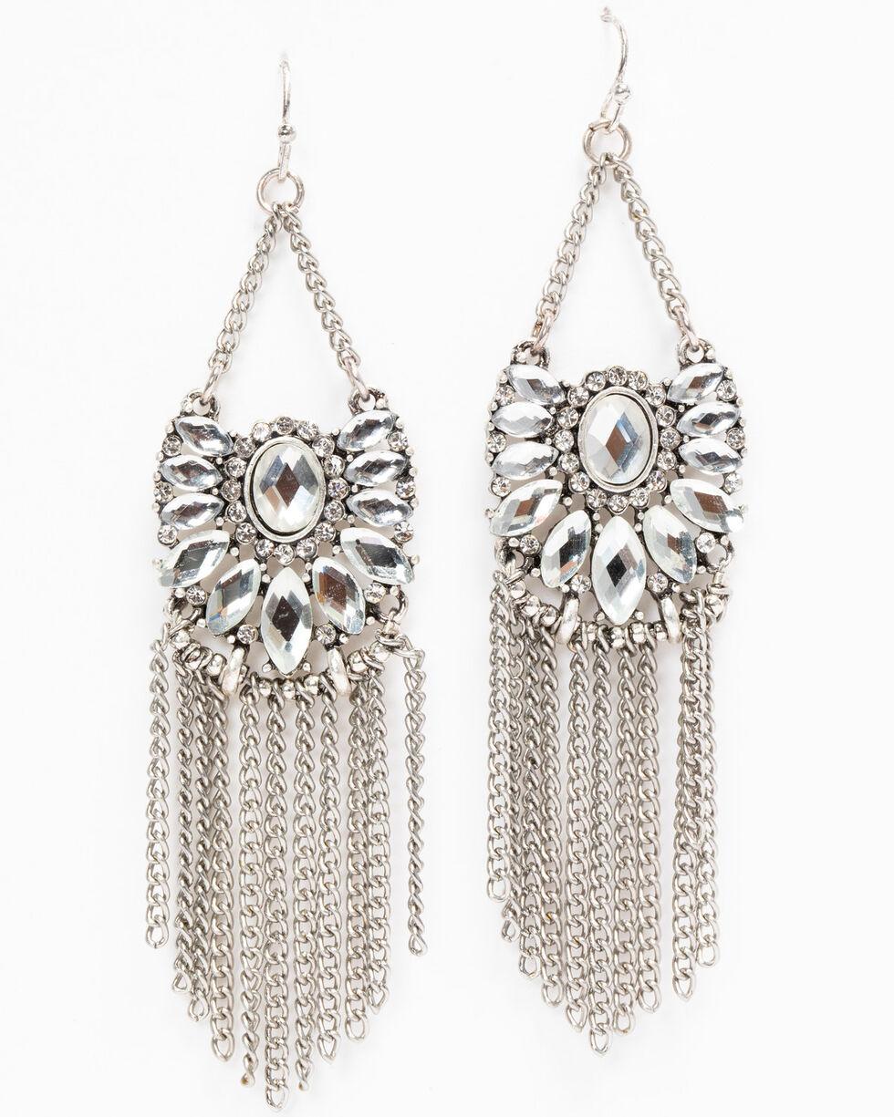 Idyllwind Women's Shine On Fringe Earrings, Silver, hi-res
