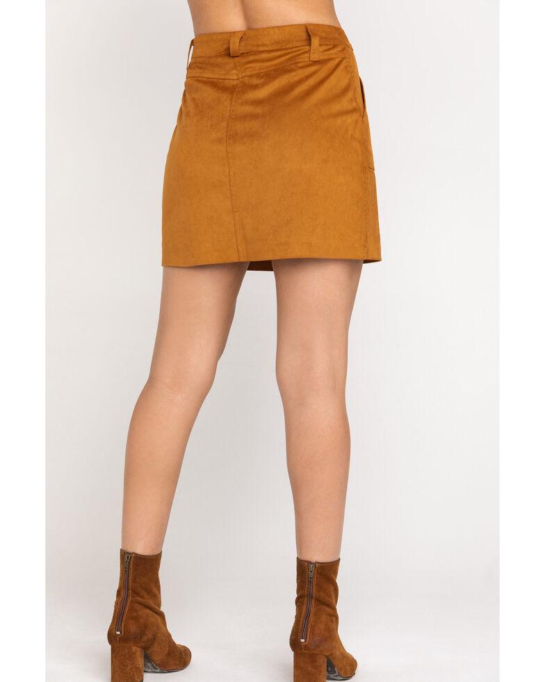 Shyanne Women's Tan Faux Suede Mini Skirt, , hi-res