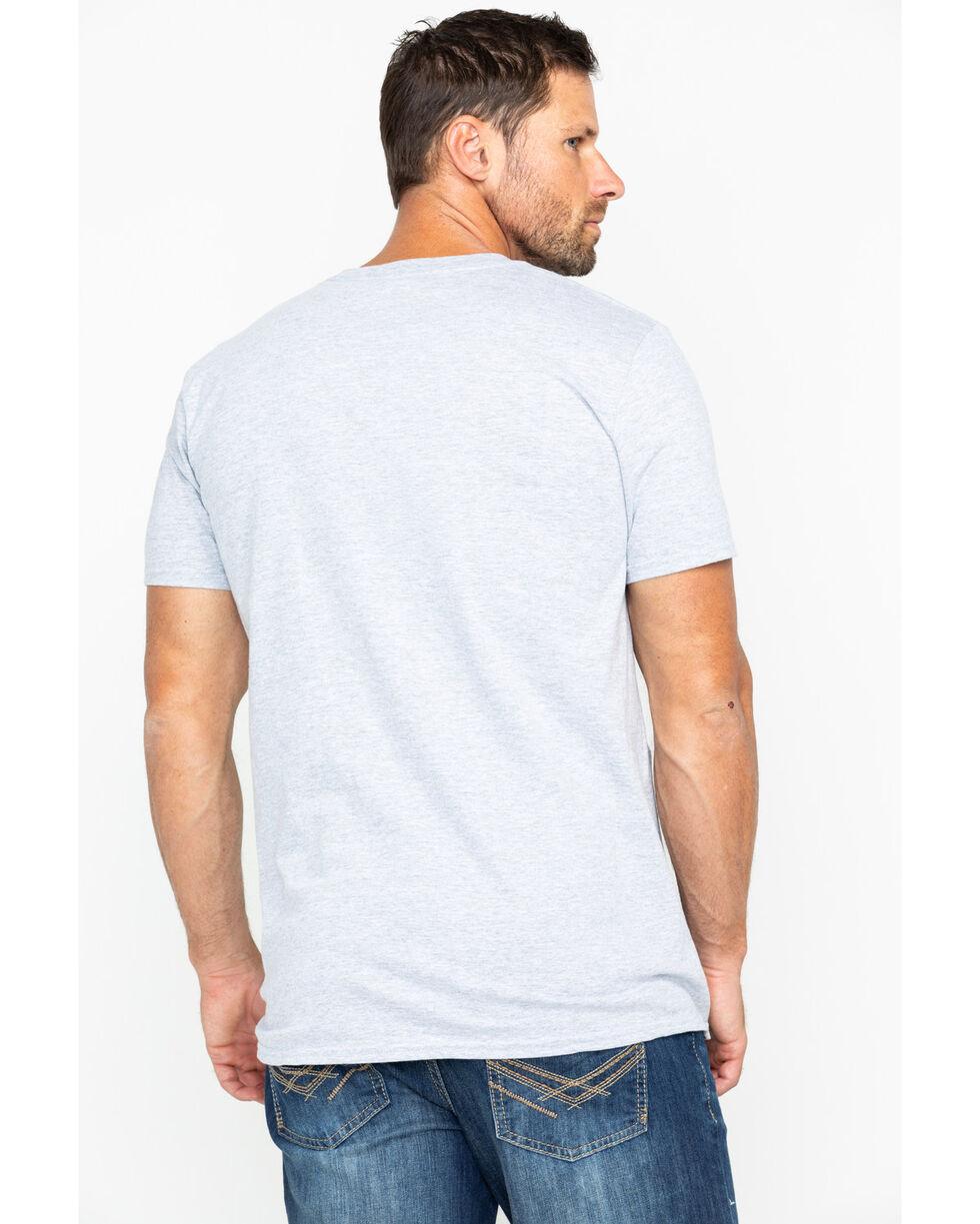 Cody James Men's Rodeo Bull Graphic T-Shirt , Heather Grey, hi-res