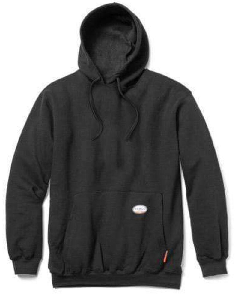 Rasco Men's Flame Resistant Black Hooded Work Sweatshirt , Black, hi-res