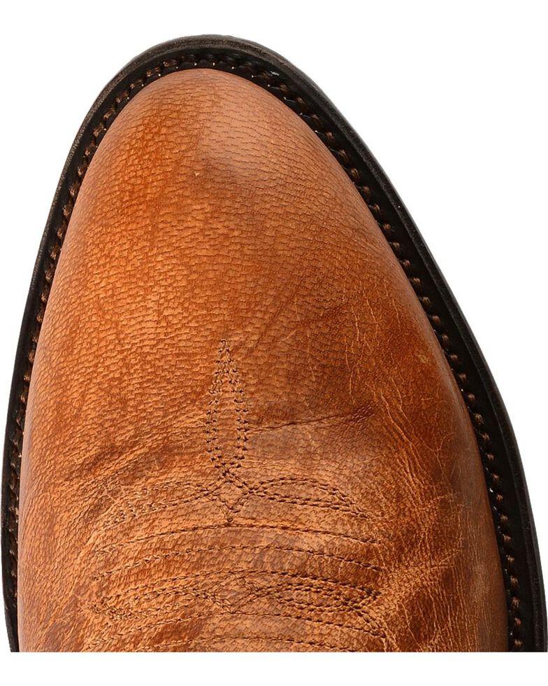 Lucchese Men's Lewis Roper Toe Mandras Goat Western Boots, Tan, hi-res